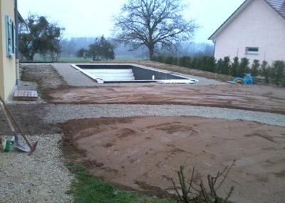 Terrassement piscine Doubes, Besancon, Saint Vit, Ornans, Baume les dames