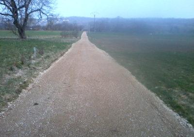 Création d'un chemin communal dans le Doubs, Besancon, Saint Vit, Ornans, Baume les dames