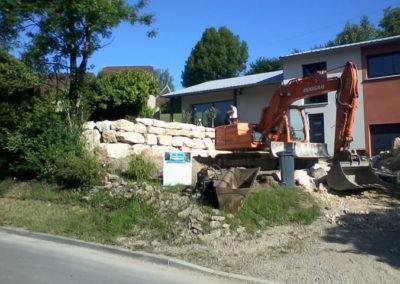enrochement pelleteuse - Doubs, Besancon, Saint Vit, Ornans, Baume les dames