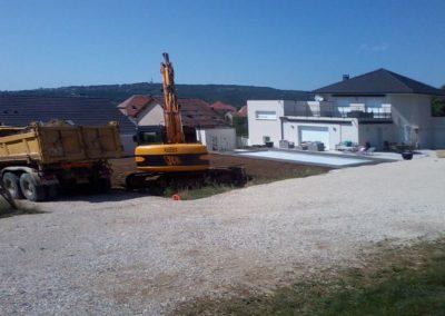 Terrassement maison Doubs, Besancon, Saint Vit, Ornans, Baume les dames