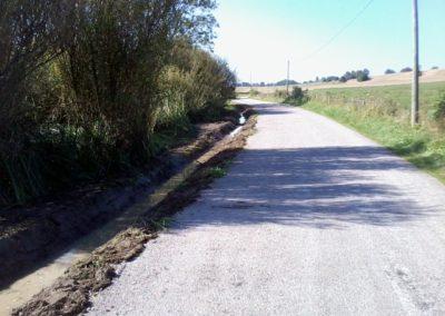 création caniveau, fossé d'évacuation des eaux pluviales dans le Doubs, Besancon, Saint Vit, Ornans, Baume les dames